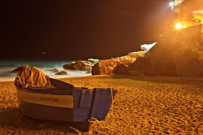 Calahonda beach at night - free stock photo