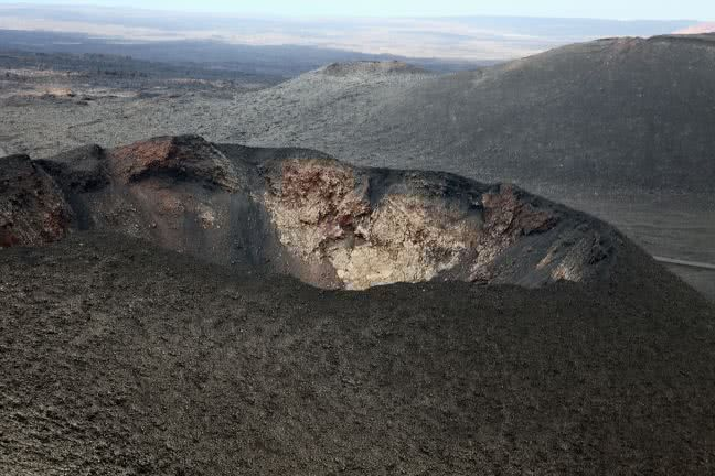 Crater in the Timanfaya National Park - free stock photo