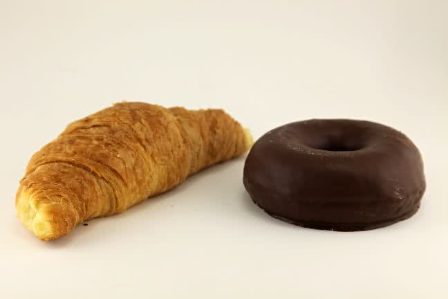Donut and croissant - free stock photo