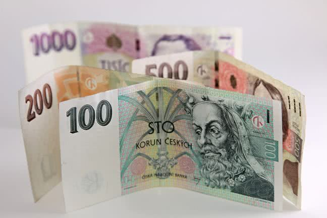 Four Czech crowns notes - free stock photo