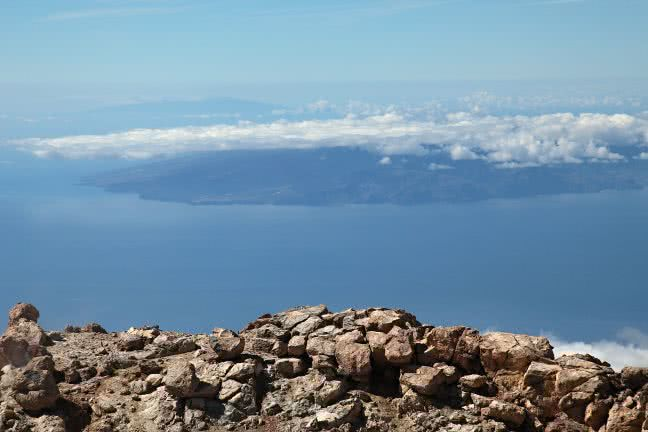 La Gomera from Pico del Teide - free stock photo