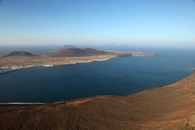 Isla Graciosa views from Mirador del Rio - free stock photo