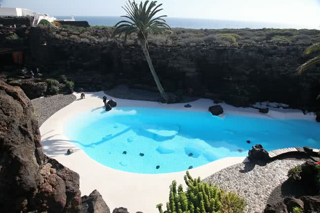 Jameos del Agua pool - free stock photo