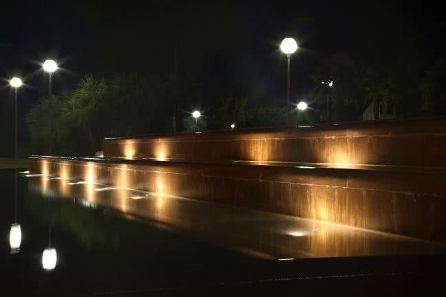 Lignano fountain at night - free stock photo