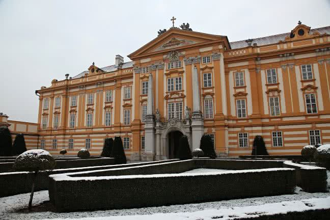 Melk Abbey in the winter - free stock photo