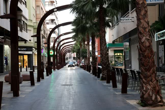 Modern street of Torrevieja - free stock photo