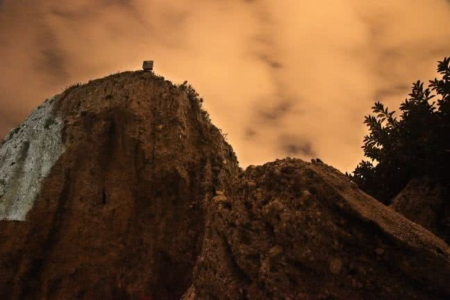 Nerja cliff at night - free stock photo