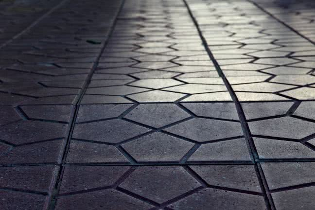 Pavement of tiles - free stock photo