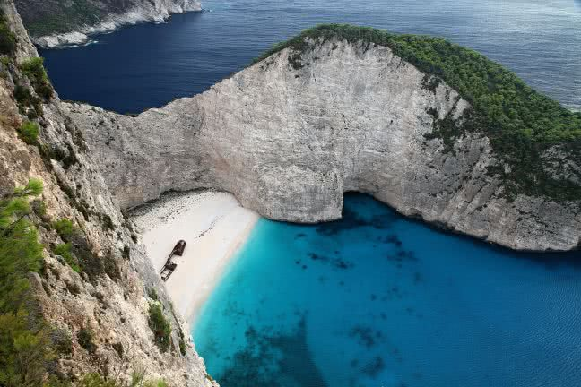 Shipwreck in Zakynthos - free stock photo