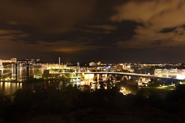Stockholm at night - free stock photo