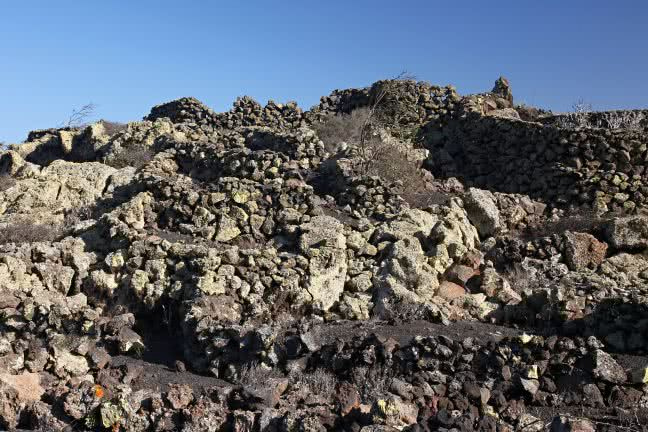Stony landscape of Lanzarote - free stock photo