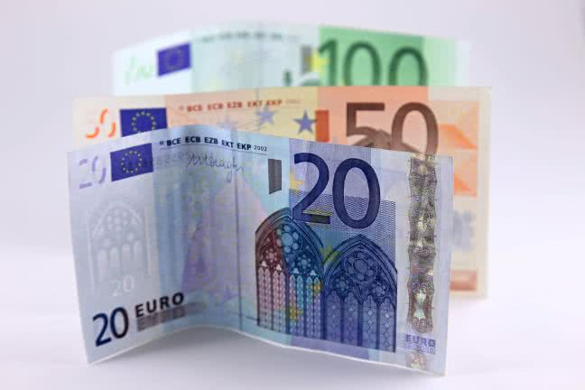 Three euro banknotes - free stock photo