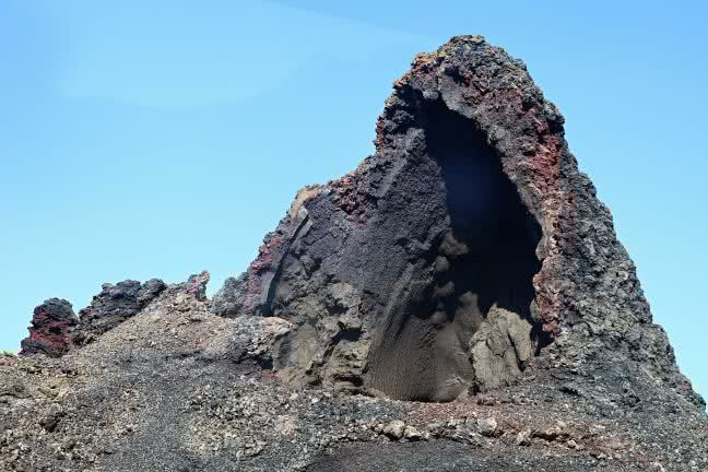 Timanfaya rock - free stock photo