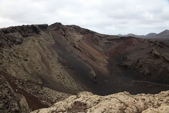 Timanfaya rocky terrain - free stock photo
