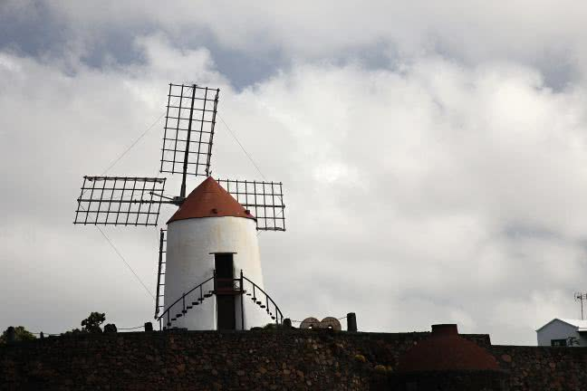 Windmill in Lanzarote - free stock photo
